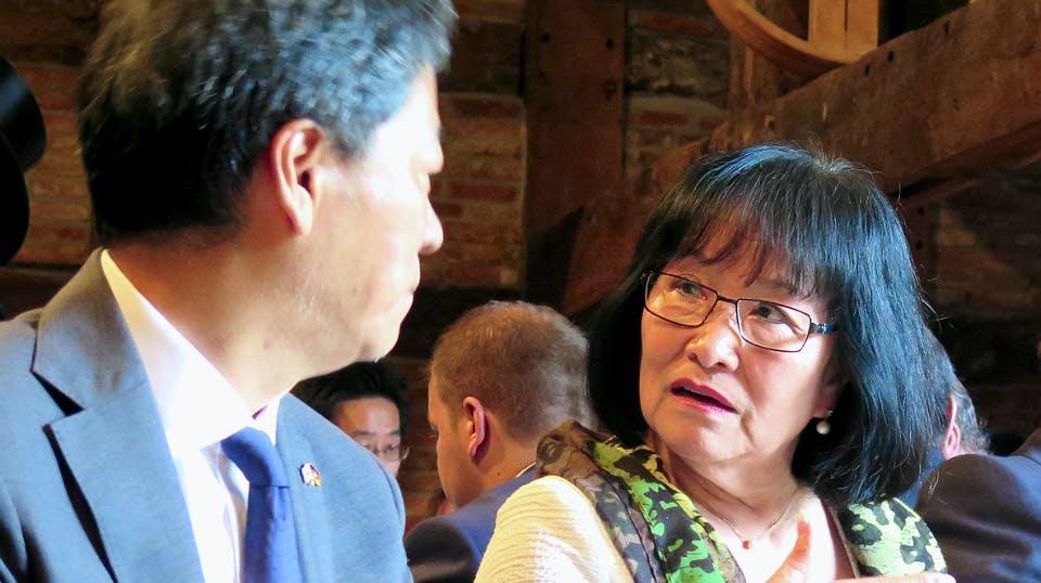 Frau Teruko Balogh-Klaus engagiert sich seit mehr als 30 Jahren für die japanisch-deutschen Verbindungen.