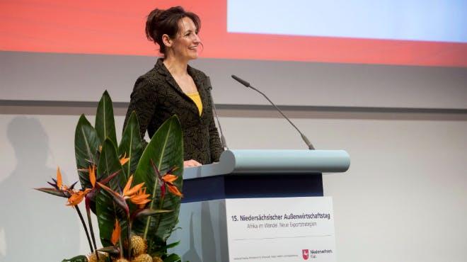 Außenwirtschaftstag 2018: Referentin Arnold von der DIHK