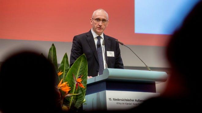 Außenwirtschaftstag 2018: Referent Haller von Siemens