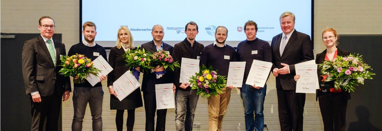 Gewinner des Gründerpreises Durchstarter 2017