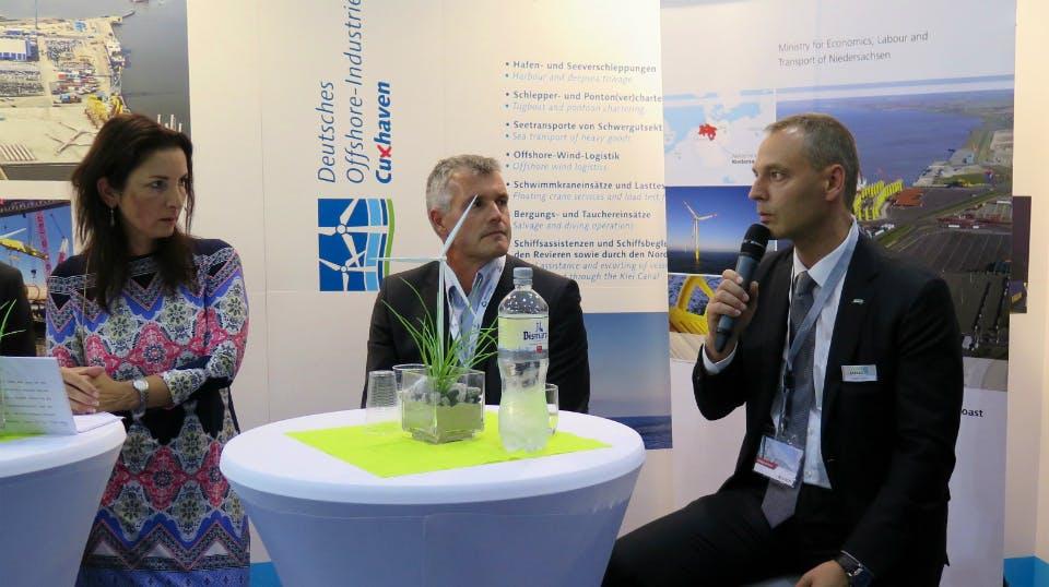 Joachim Görlitz, Geschäftsführer Ambau GmbH, Morten Mørk, Geschäftsführer Nordmark Maskinfabrik A/S