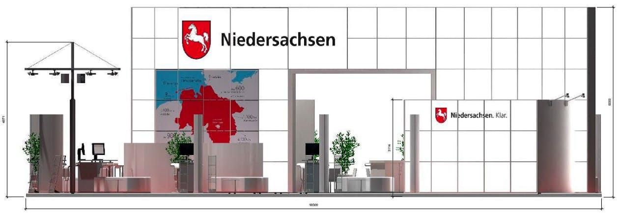 Der Messestand des Landes Niedersachsen auf der Expo Real