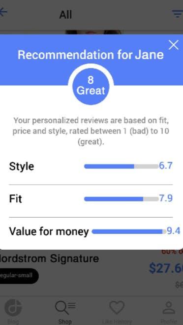 Erfolgegeschichten_Dresslife App_Recommendation Score_Women_Galerie_Versuch