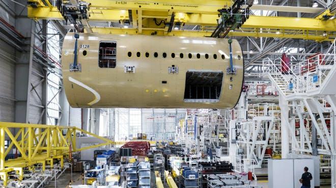Flugzeugbau in Nordenham bei Premium Aerotec